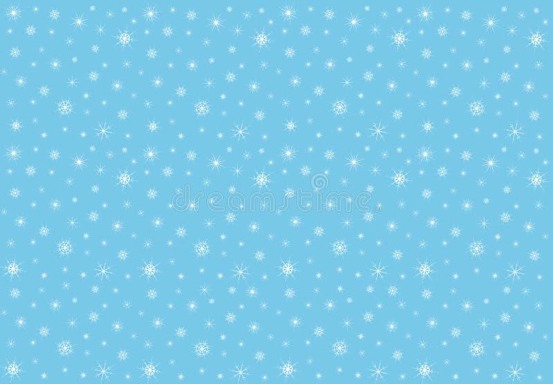 Leuke Gelukkige Wolk met Sneeuwvlokken, Druk of Pictogram het Vectorpatroon van IllustrationSeamless met sneeuwvlokken Vector ill vector illustratie