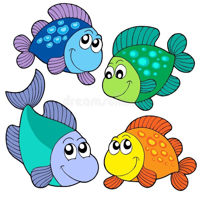 Leuke geplaatste vissen vector illustratie