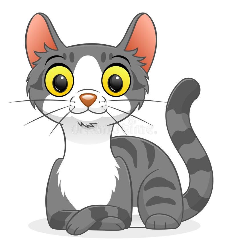 Leuke gestreepte katkat vector illustratie
