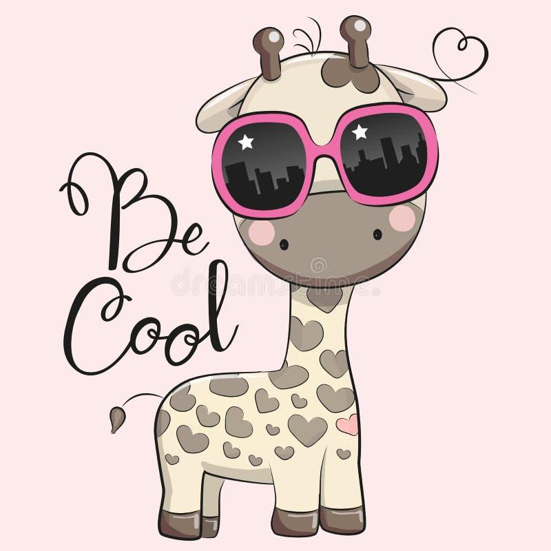 Download Leuke Giraf met zonglazen vector illustratie. Illustratie bestaande uit jongen - 114227679