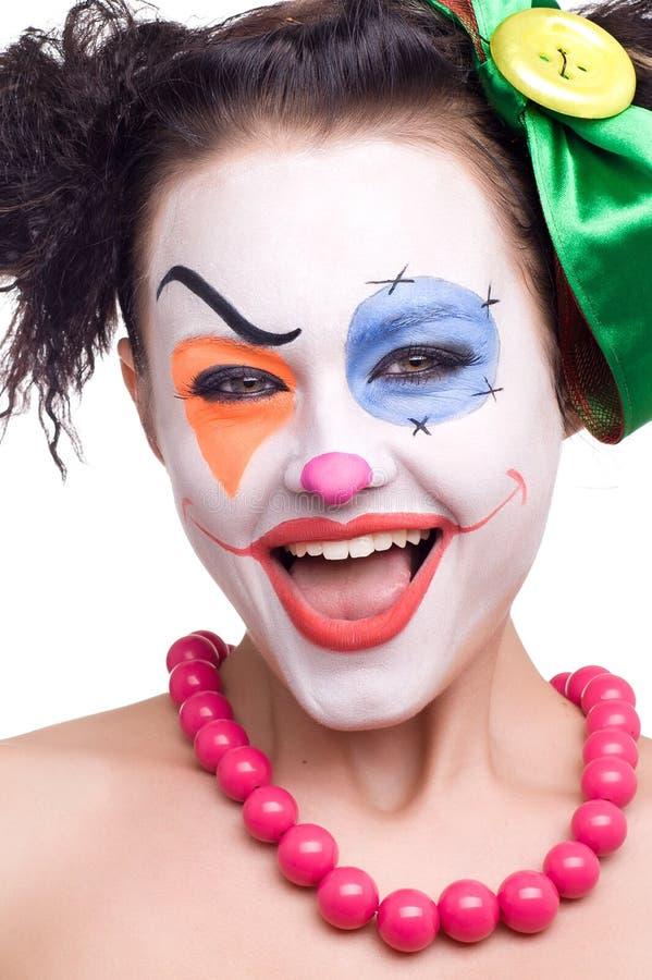 Leuke glimlachende clown royalty-vrije stock foto