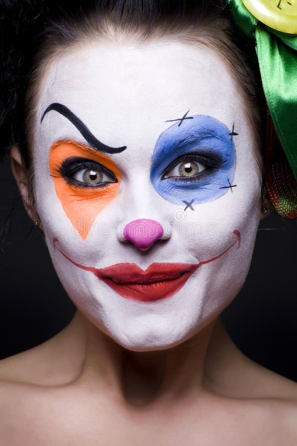 Leuke glimlachende clown royalty-vrije stock afbeeldingen