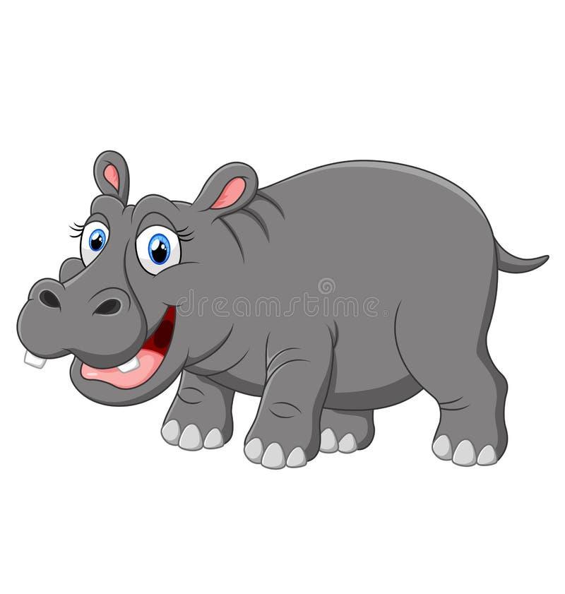 Leuke grappige hippo vector illustratie