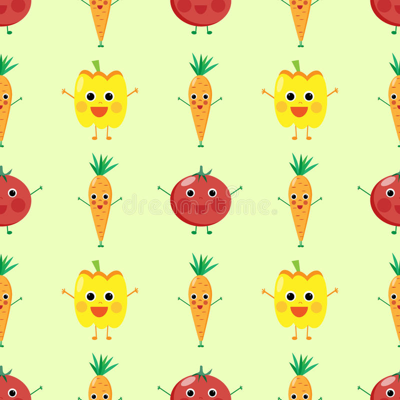 Leuke groenten stock illustratie