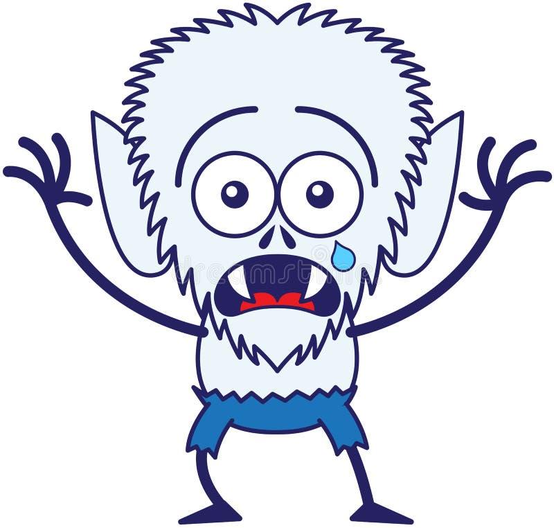 Leuke Halloween-en doen schrikken weerwolf die schreeuwen voelen stock illustratie