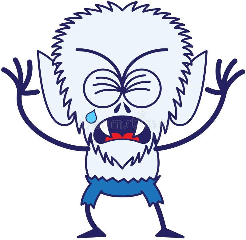 Leuke Halloween-en weerwolf die schreeuwen snikken stock illustratie