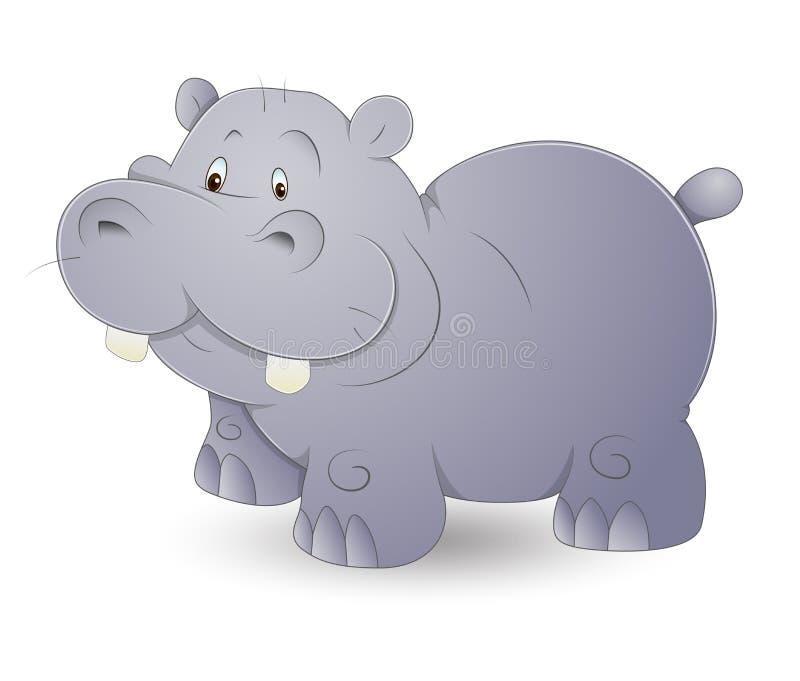 Leuke Hippo royalty-vrije illustratie