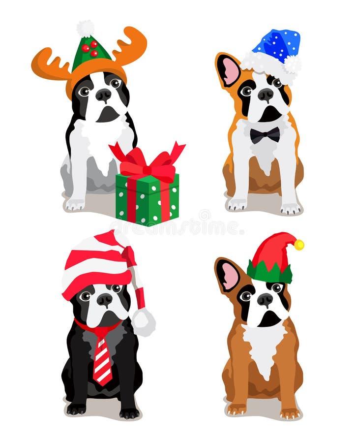 Leuke hond van het Buldogras stock illustratie