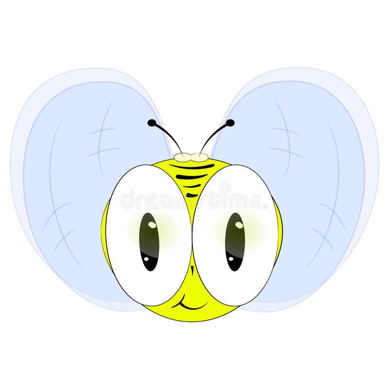 Leuke honingsbij De vectorillustratie van het beeldverhaal vector illustratie