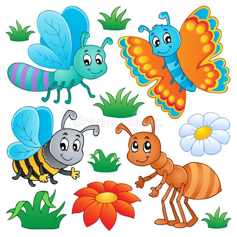 Leuke insecteninzameling 2 royalty-vrije illustratie