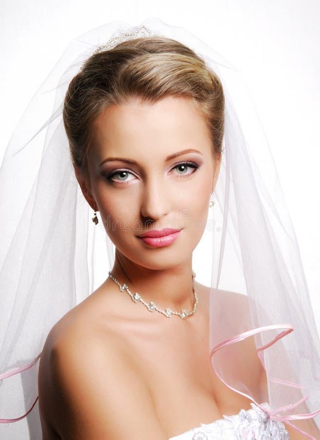 Leuke jonge bruid royalty-vrije stock foto