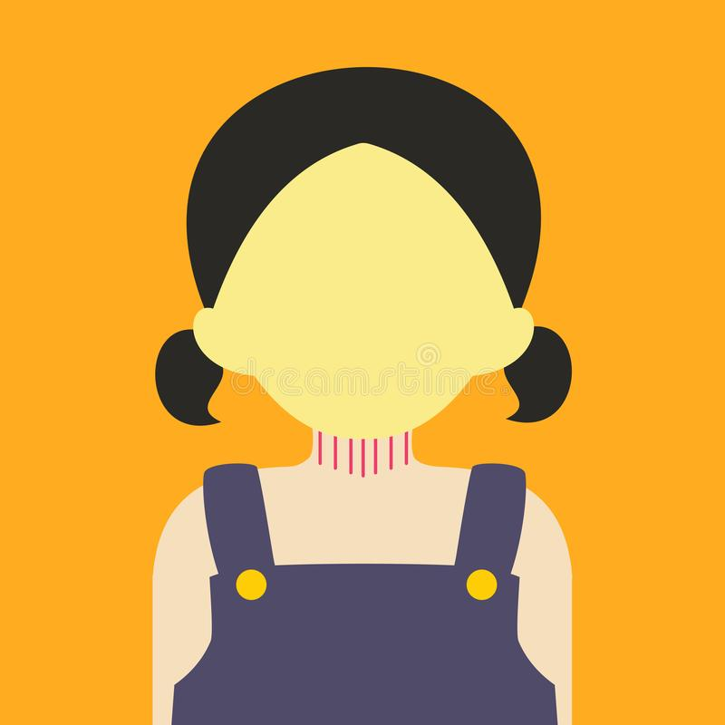 Leuke Jonge de Illustratie Grafische van Meisjesmensen Vectorkleur Als achtergrond royalty-vrije illustratie