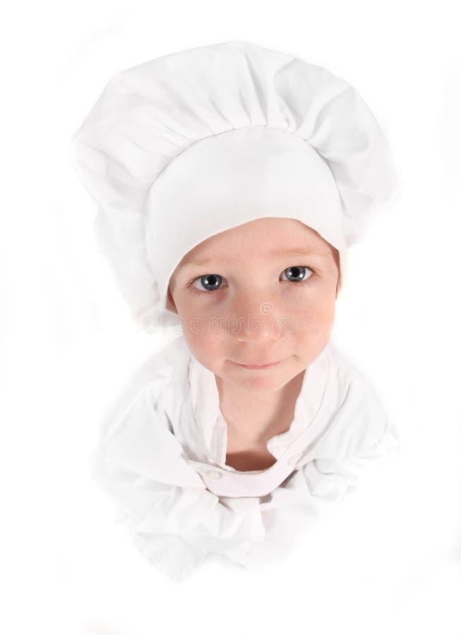 Leuke Jonge Strevende Chef-kok stock foto