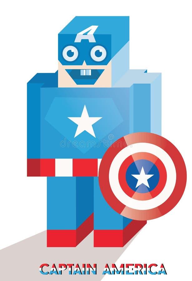 Leuke Kapitein America stock illustratie