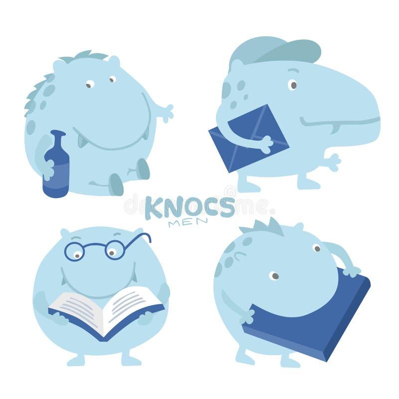 Leuke karaktersleeplijn, hippo vector illustratie