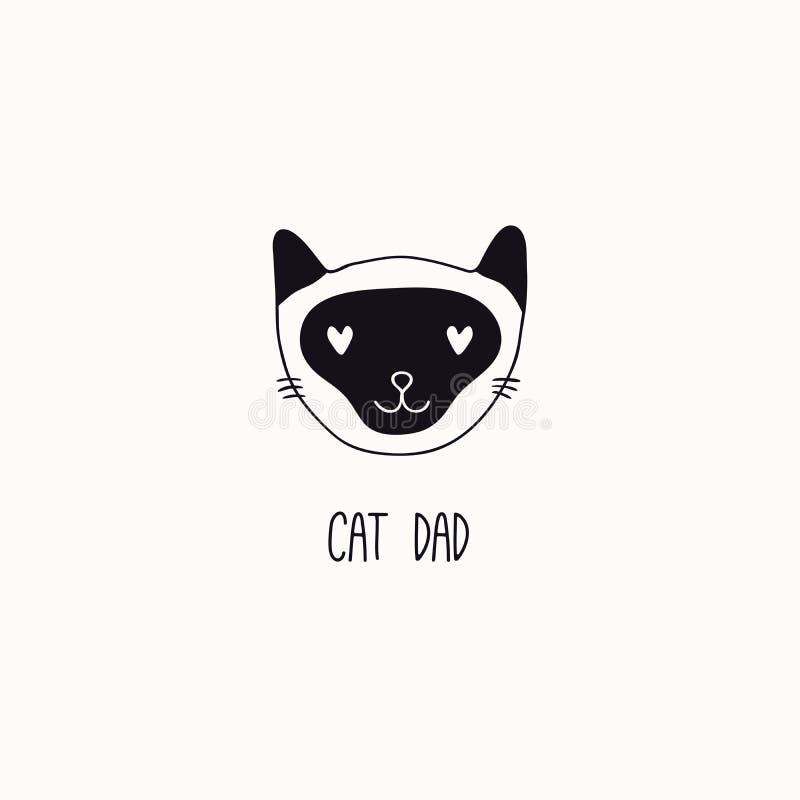 Leuke kattenkrabbel met citaat vector illustratie