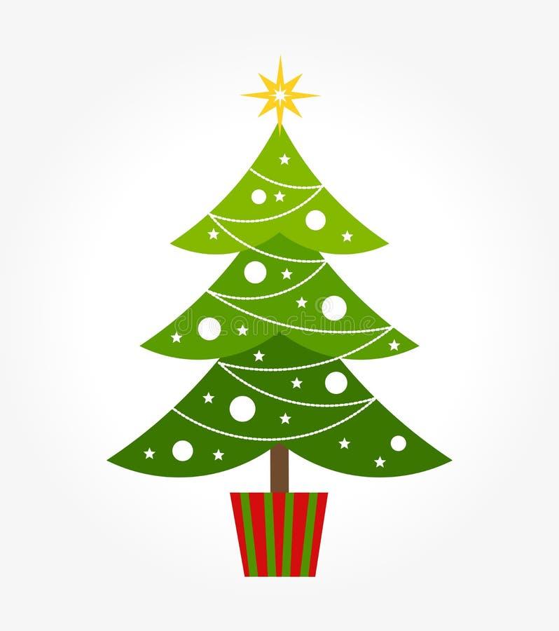 Leuke Kerstboom royalty-vrije illustratie
