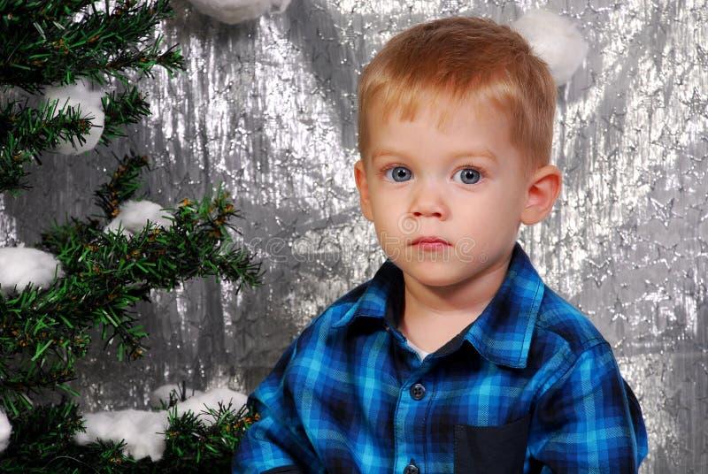 Leuke Kerstmis van het jongensjonge geitje royalty-vrije stock afbeelding