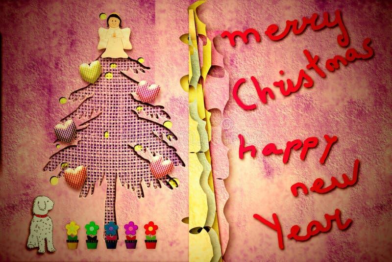 Leuke Kerstmiskaart met bericht stock illustratie