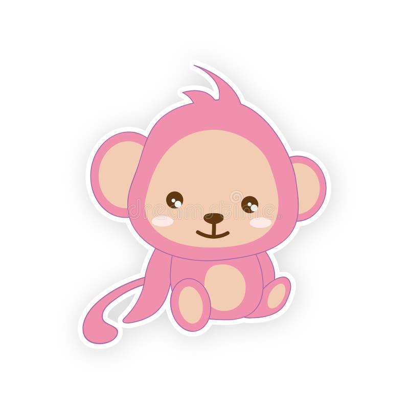 Leuke kleine aap vector illustratie