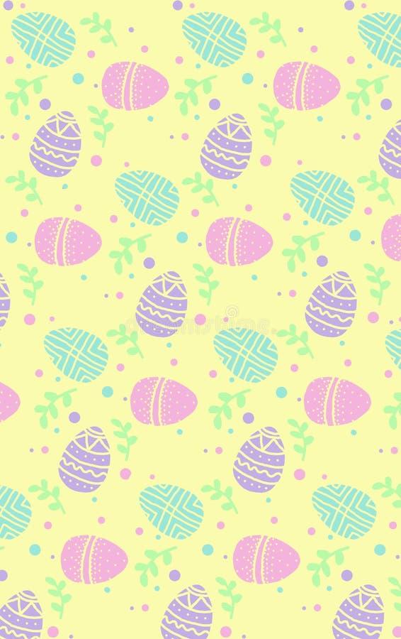 Leuke kleurrijke Oostelijke eierenillustratie royalty-vrije illustratie