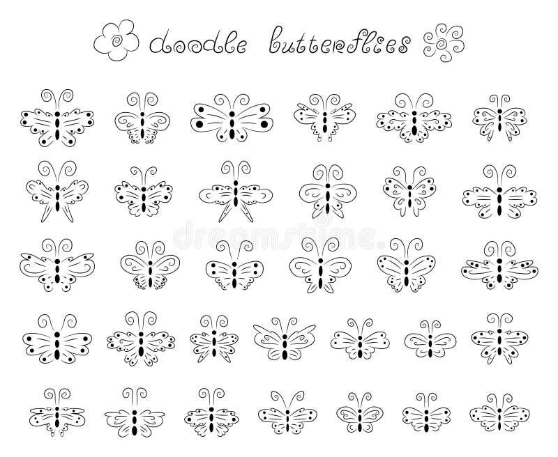 Leuke krabbelvlinders vector illustratie