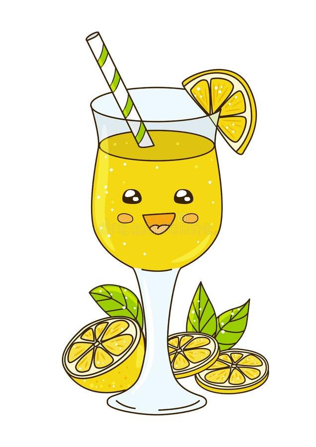 Leuke limonade op wit vector illustratie