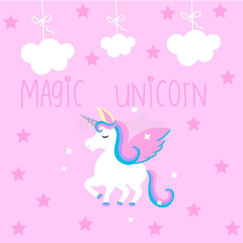 Leuke magische unicon vector illustratie