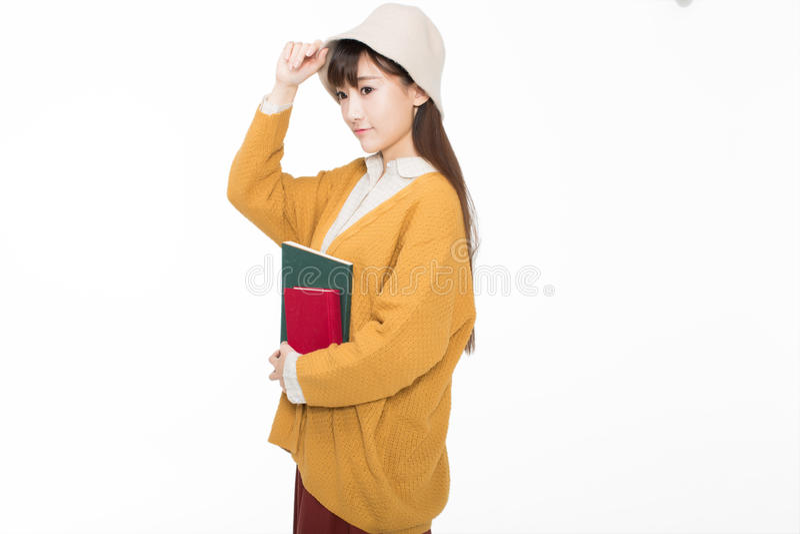 Leuke mooie Chinese studenten royalty-vrije stock foto