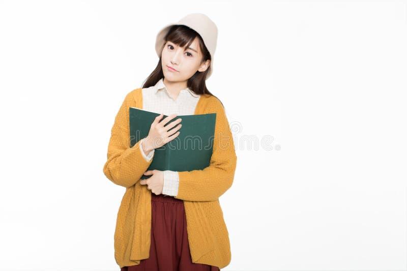 Leuke mooie Chinese studenten stock afbeeldingen