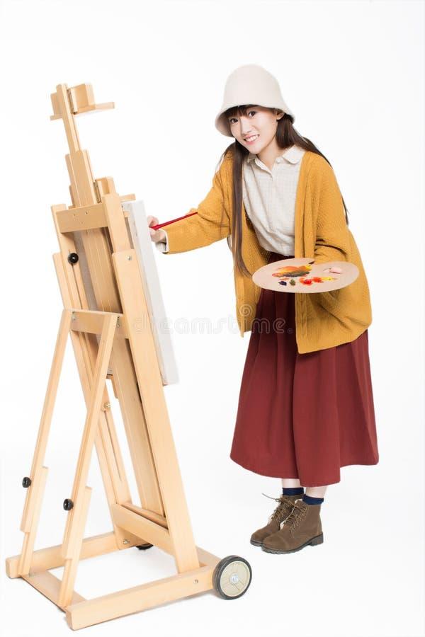 Leuke mooie meisjesschilder stock fotografie