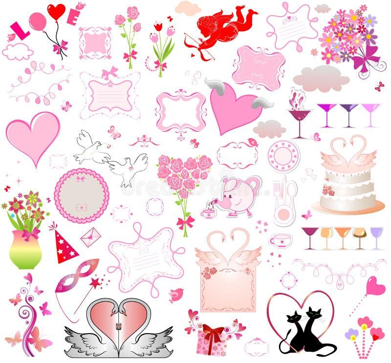 Download Leuke ontwerpelementen vector illustratie. Illustratie bestaande uit vogel - 54081027