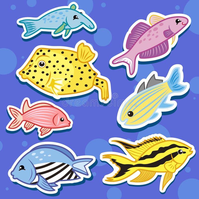 Leuke overzees dierlijke stickers11 vector illustratie