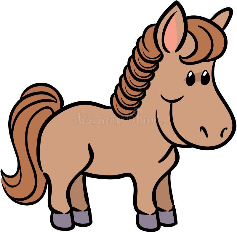 Leuke paard vectorillustratie vector illustratie
