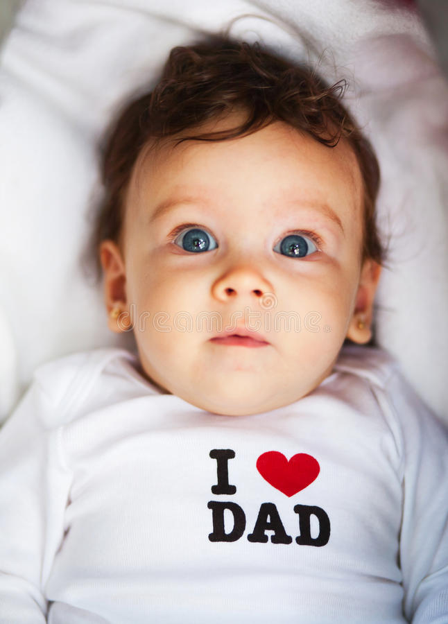 Leuke pasgeboren baby royalty-vrije stock foto's