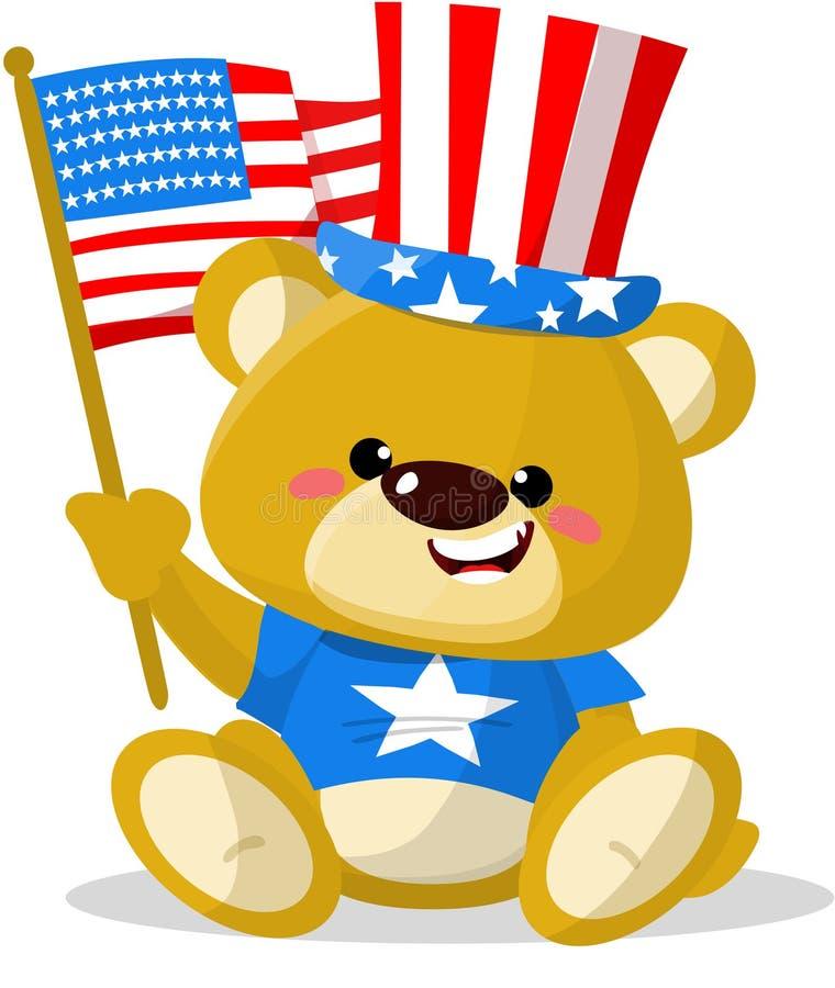 Leuke patriottisch draagt royalty-vrije illustratie
