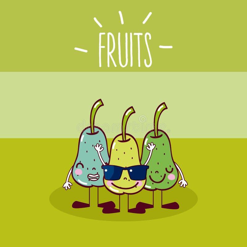 Leuke perenvruchten vector illustratie