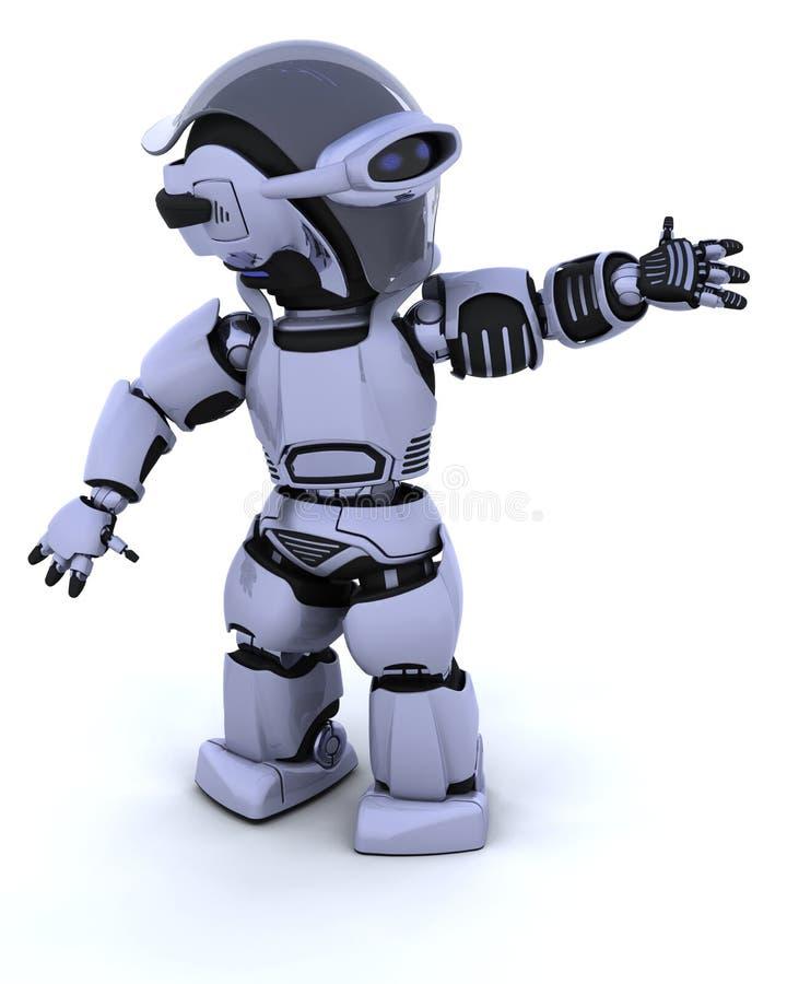 Leuke robot cyborg vector illustratie