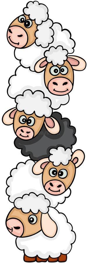 Leuke schapenstapel royalty-vrije illustratie