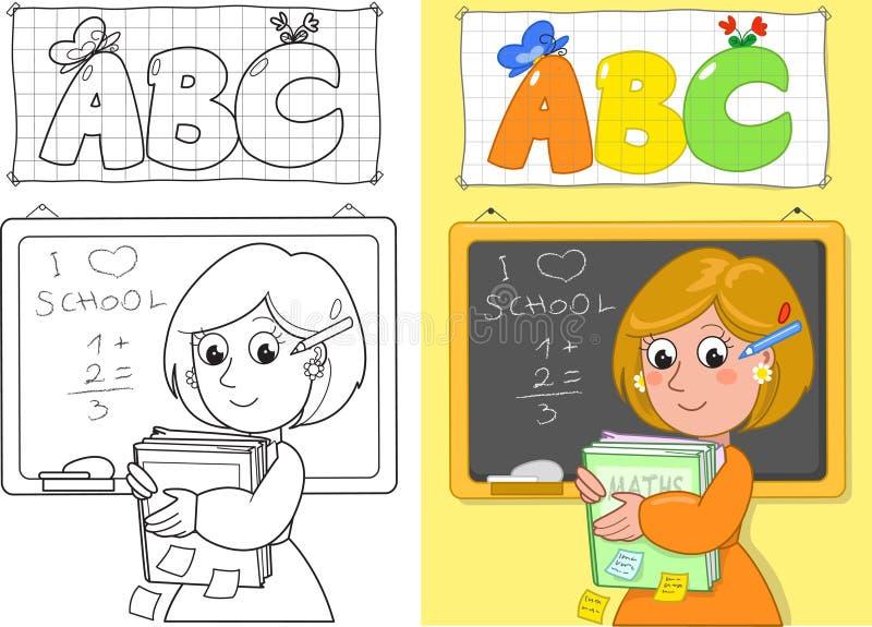 Leuke schoolleraar vector illustratie