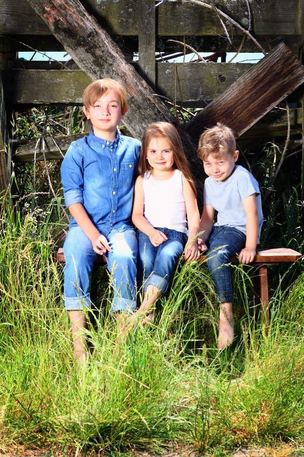 Leuke Siblings van het Land stock fotografie