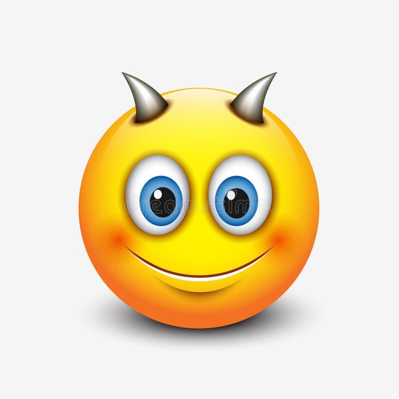 Leuke Steenbok emoticon, emoji - astrologisch teken - horoscoop - dierenriem - vectorillustratie stock illustratie