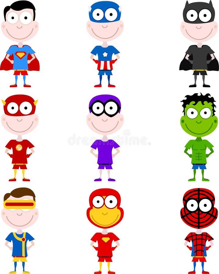 Leuke superheroes vector illustratie