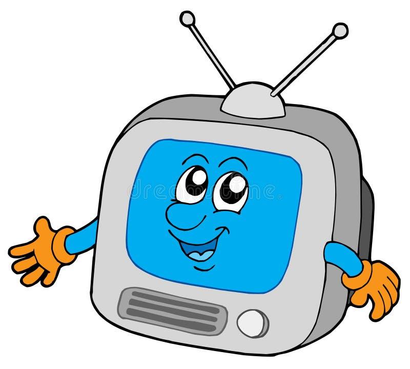 Leuke televisie royalty-vrije illustratie