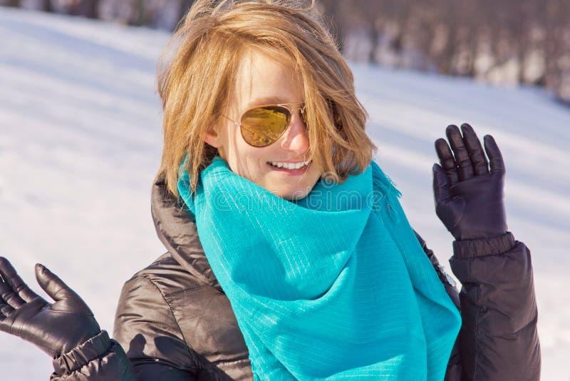 Het genieten van de van winter royalty-vrije stock afbeeldingen