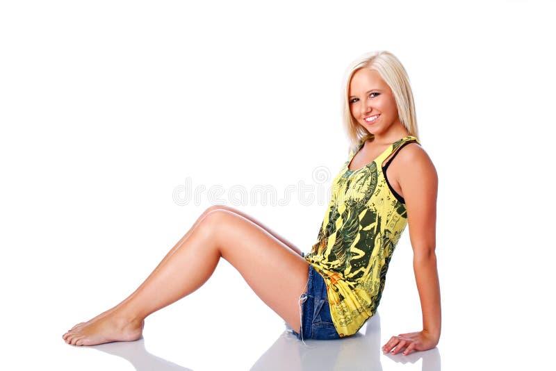 Download Leuke tienermanier stock afbeelding. Afbeelding bestaande uit naald - 10777215
