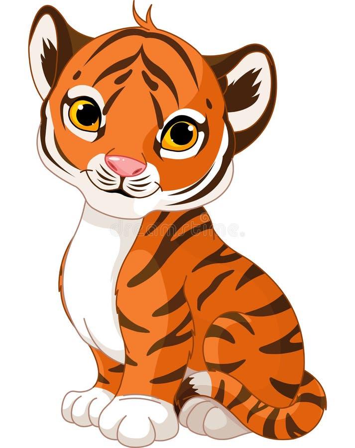 Leuke tijgerwelp royalty-vrije illustratie