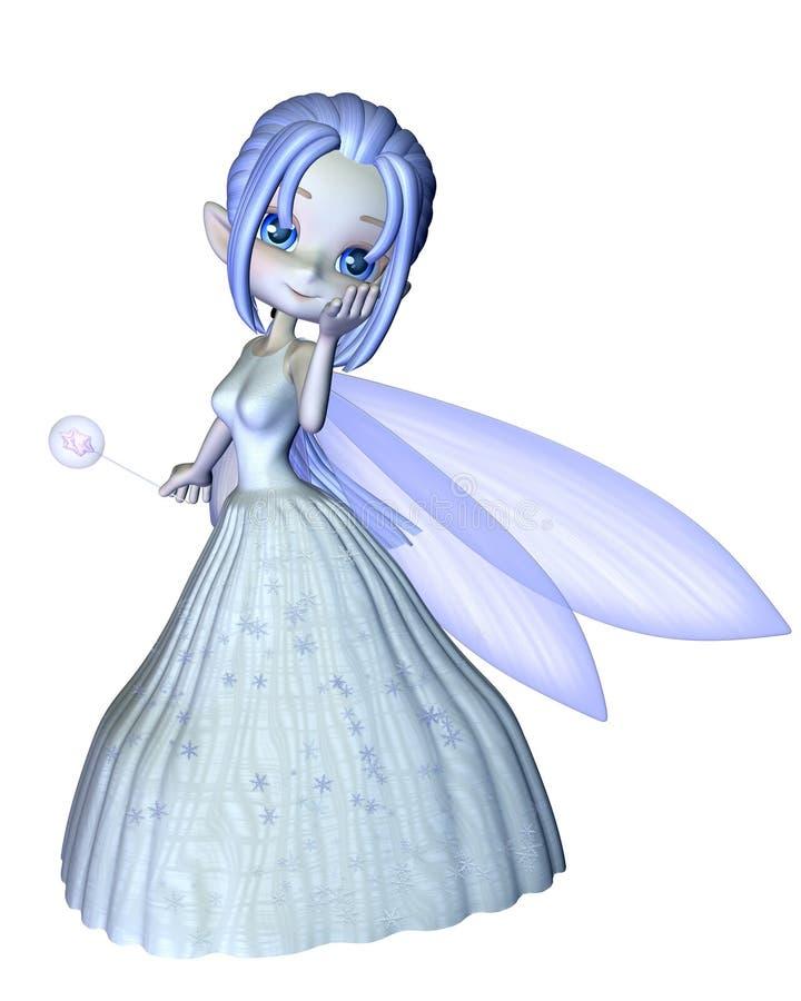 Leuke Toon Snowflake Fairy - 1 vector illustratie