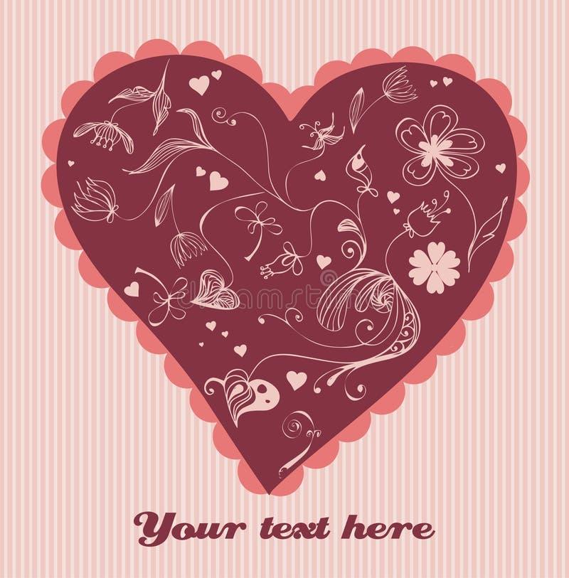 Leuke valentijnskaarttekening royalty-vrije illustratie