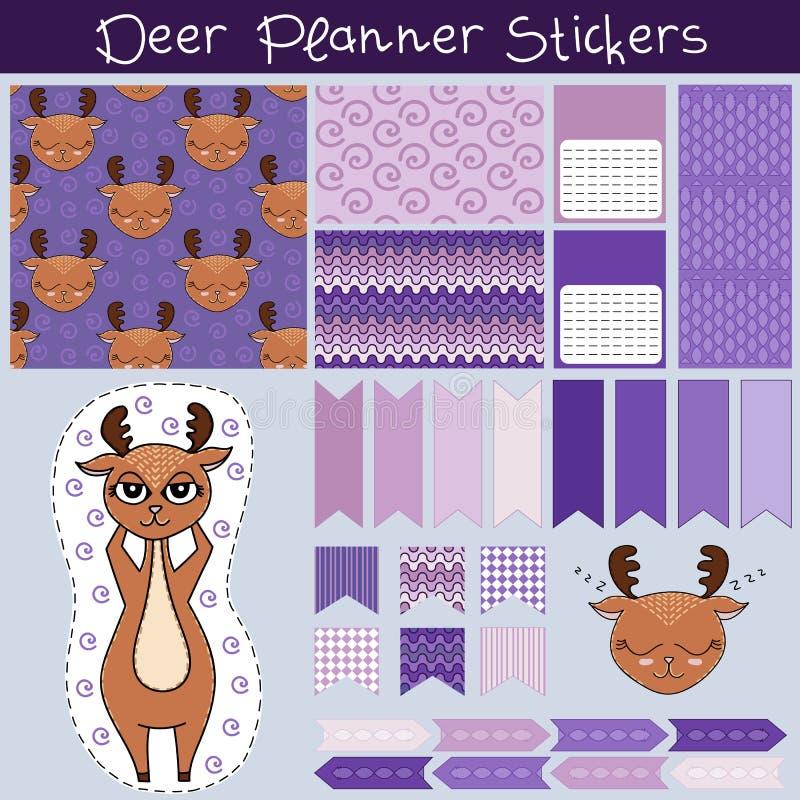 Leuke van de de hertenontwerper van Anafanny stickers 3 royalty-vrije stock fotografie